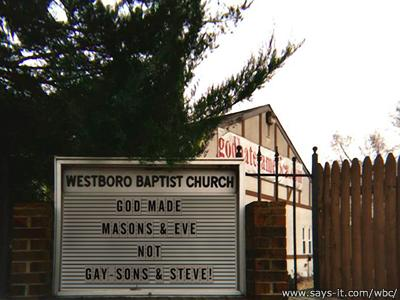 WBC hates gay Masons